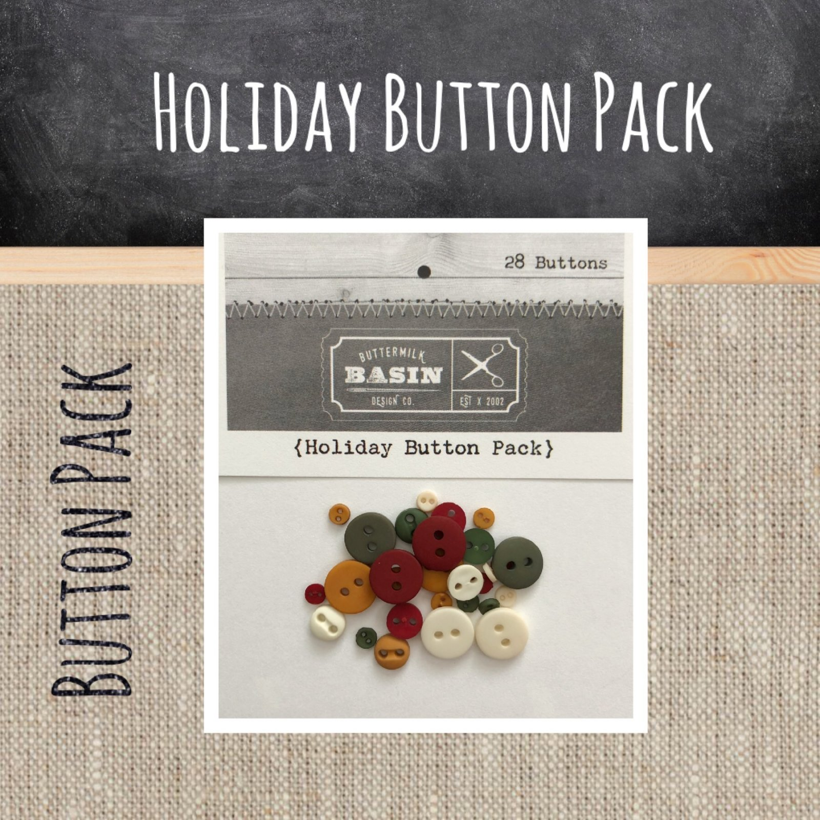 Holiday BUTTON Pack