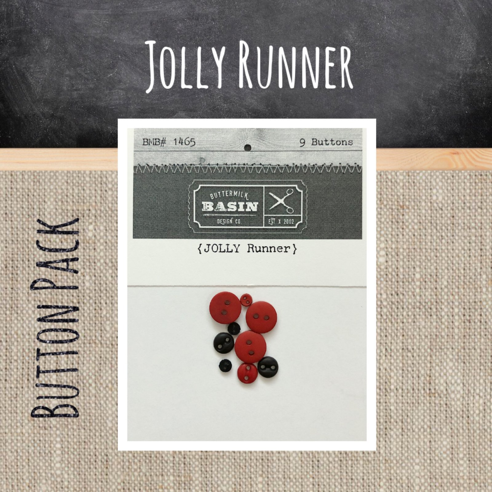 Jolly Table Runner BUTTON Pack