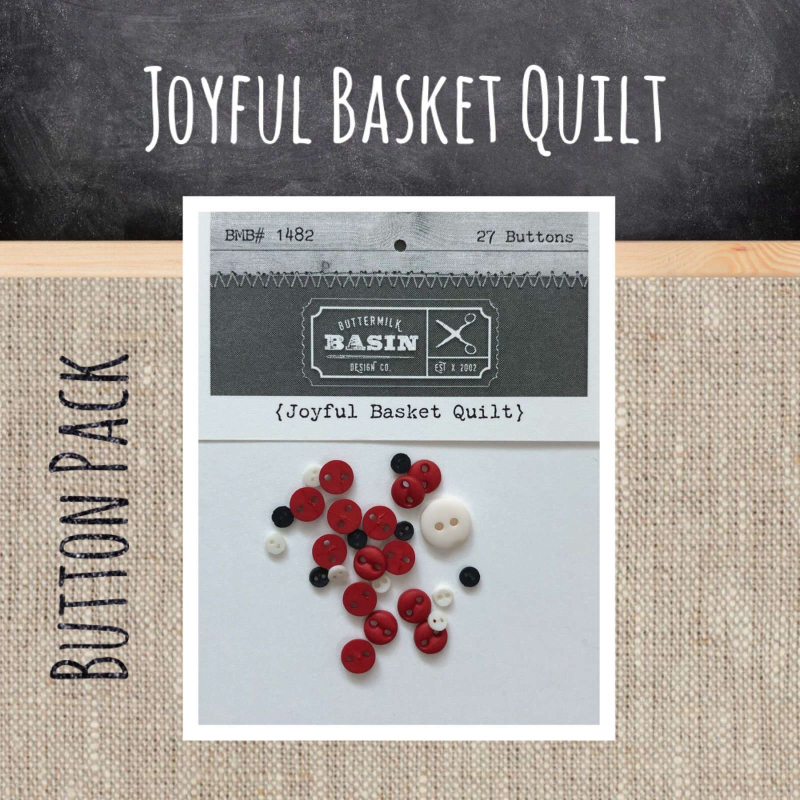 Joyful Basket Quilt BUTTON Pack