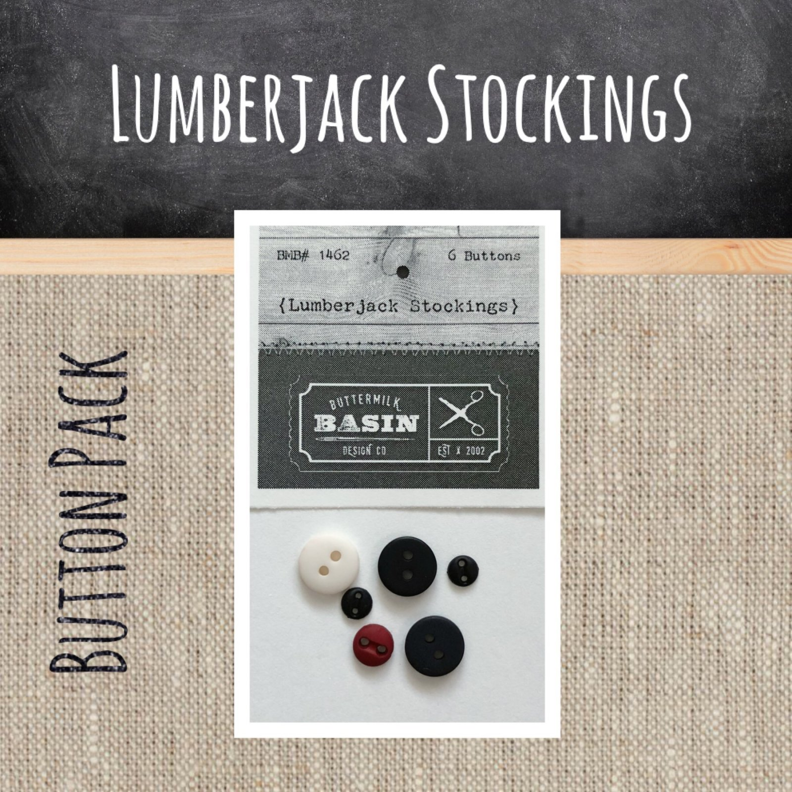 Lumberjack Stockings BUTTON Pack