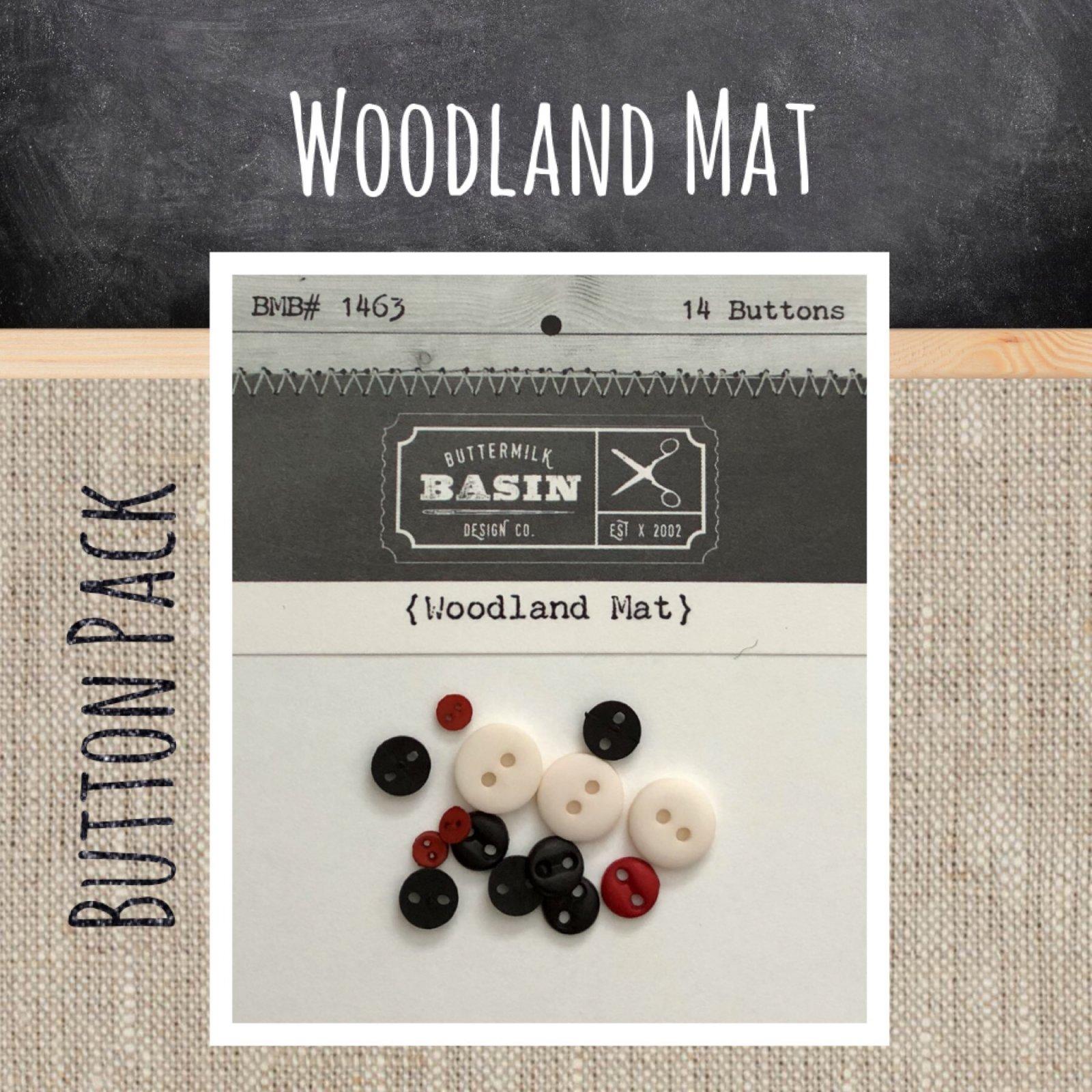 Woodland Mat BUTTON Pack