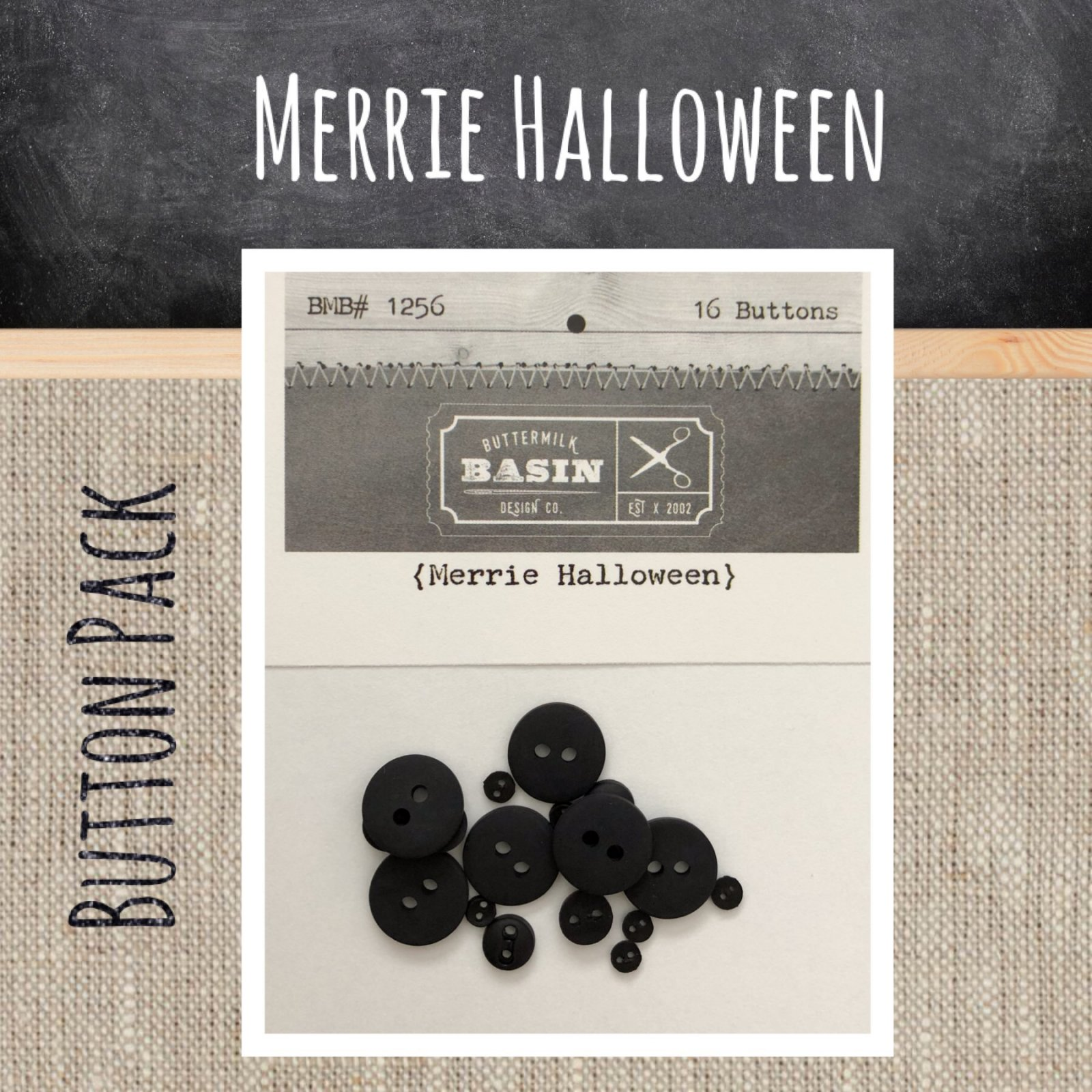 Merrie Halloween BUTTON Pack