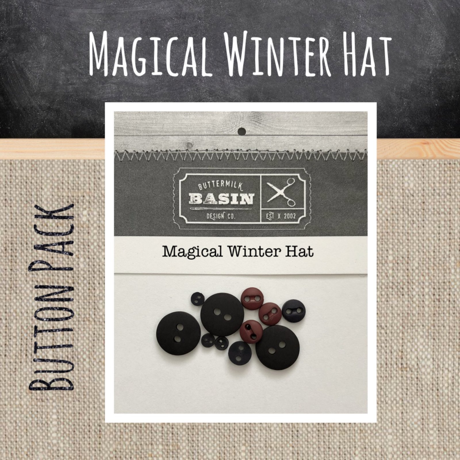 Magical Winter Hat BUTTON Pack