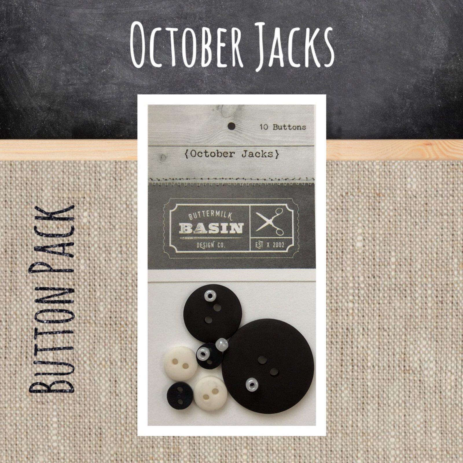 October Jacks BUTTON Pack