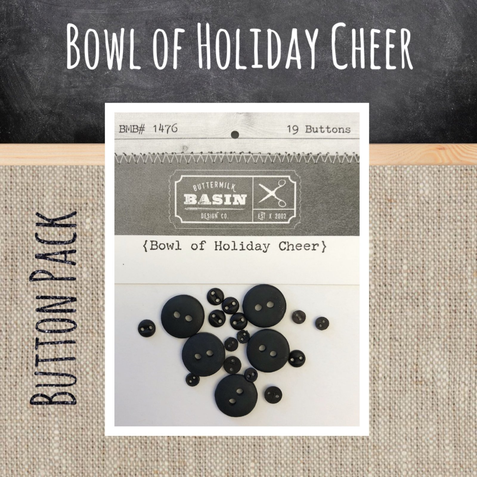 Bowl of Holiday Cheer BUTTON Pack