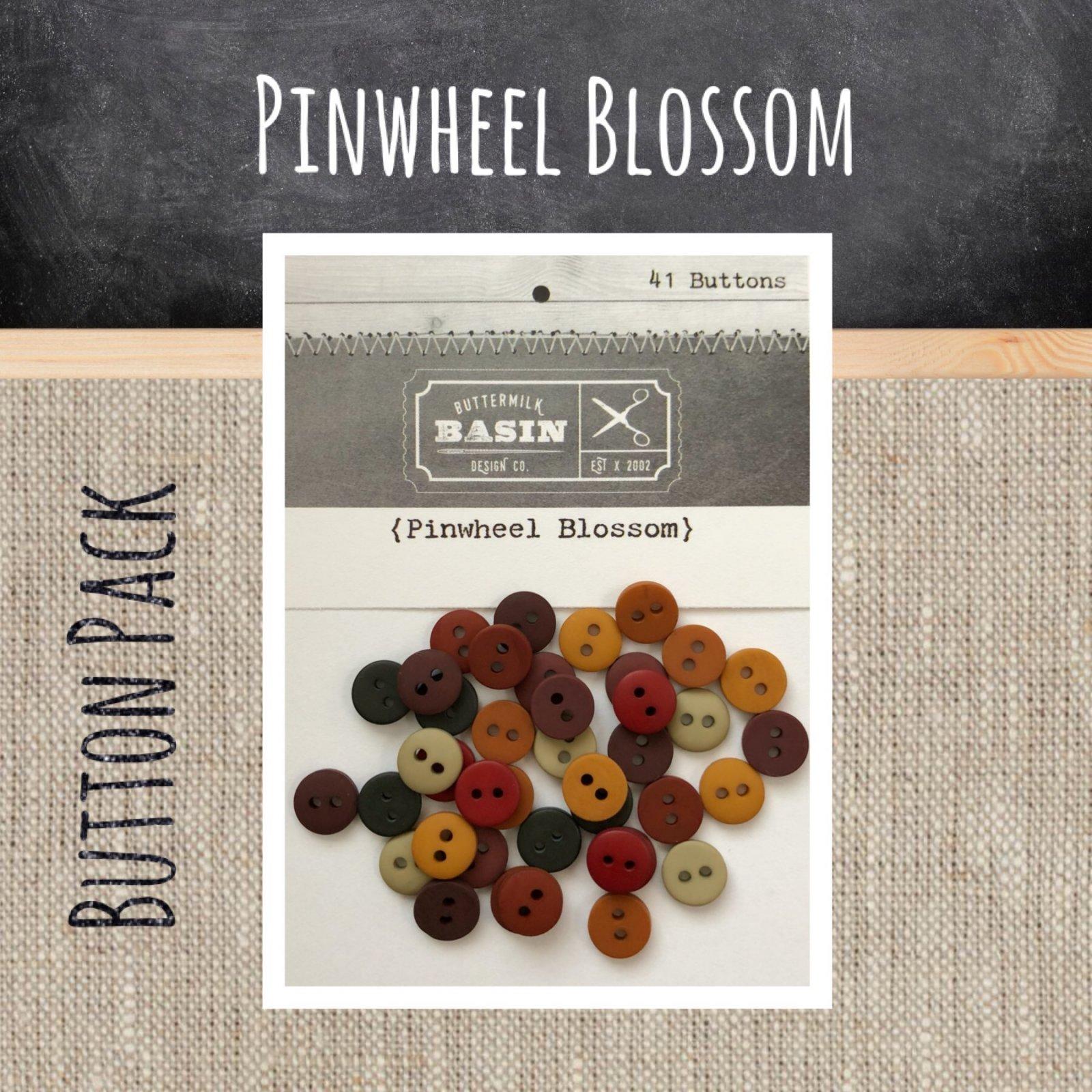 Pinwheel Blossom BUTTON Pack