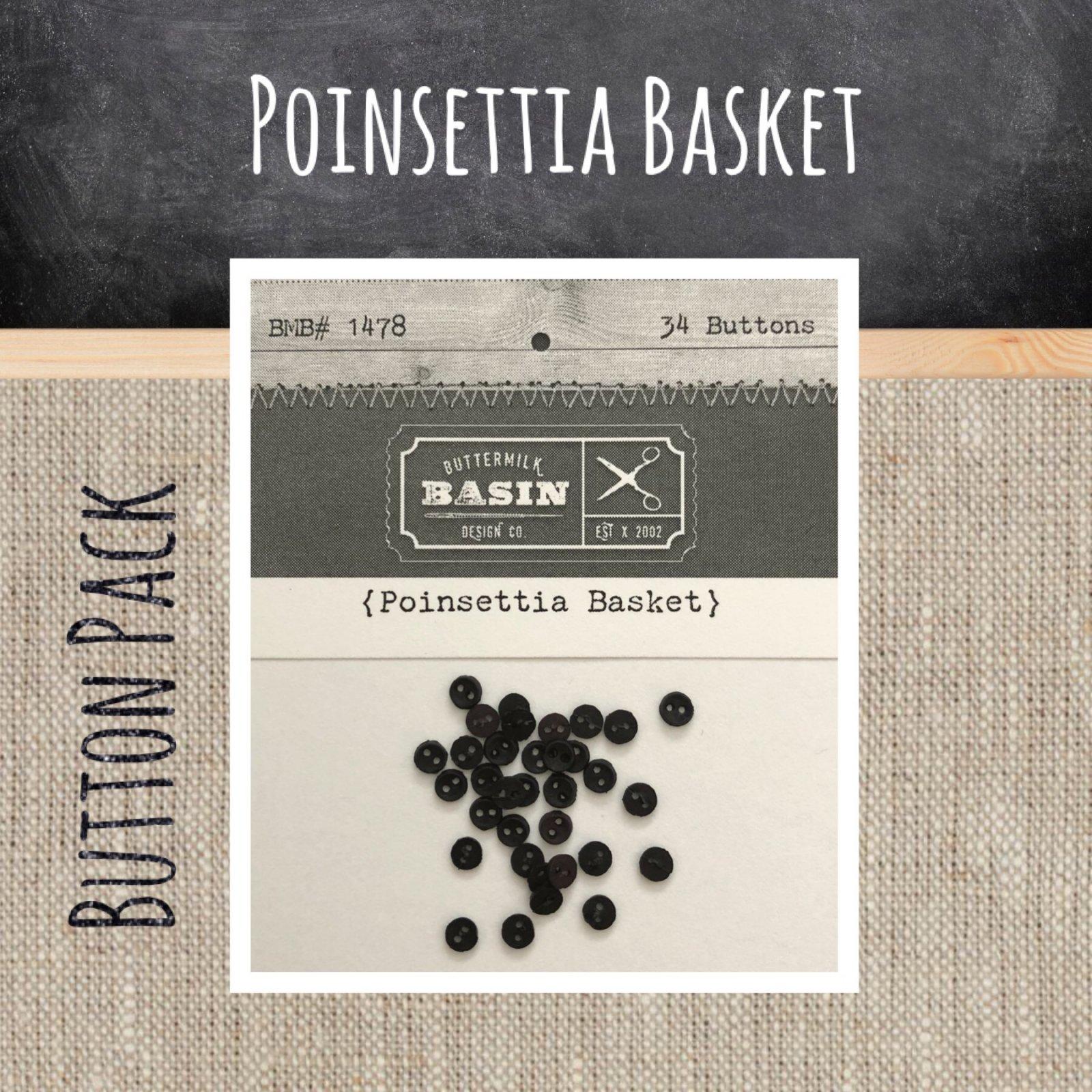 Poinsettia Basket BUTTON Pack