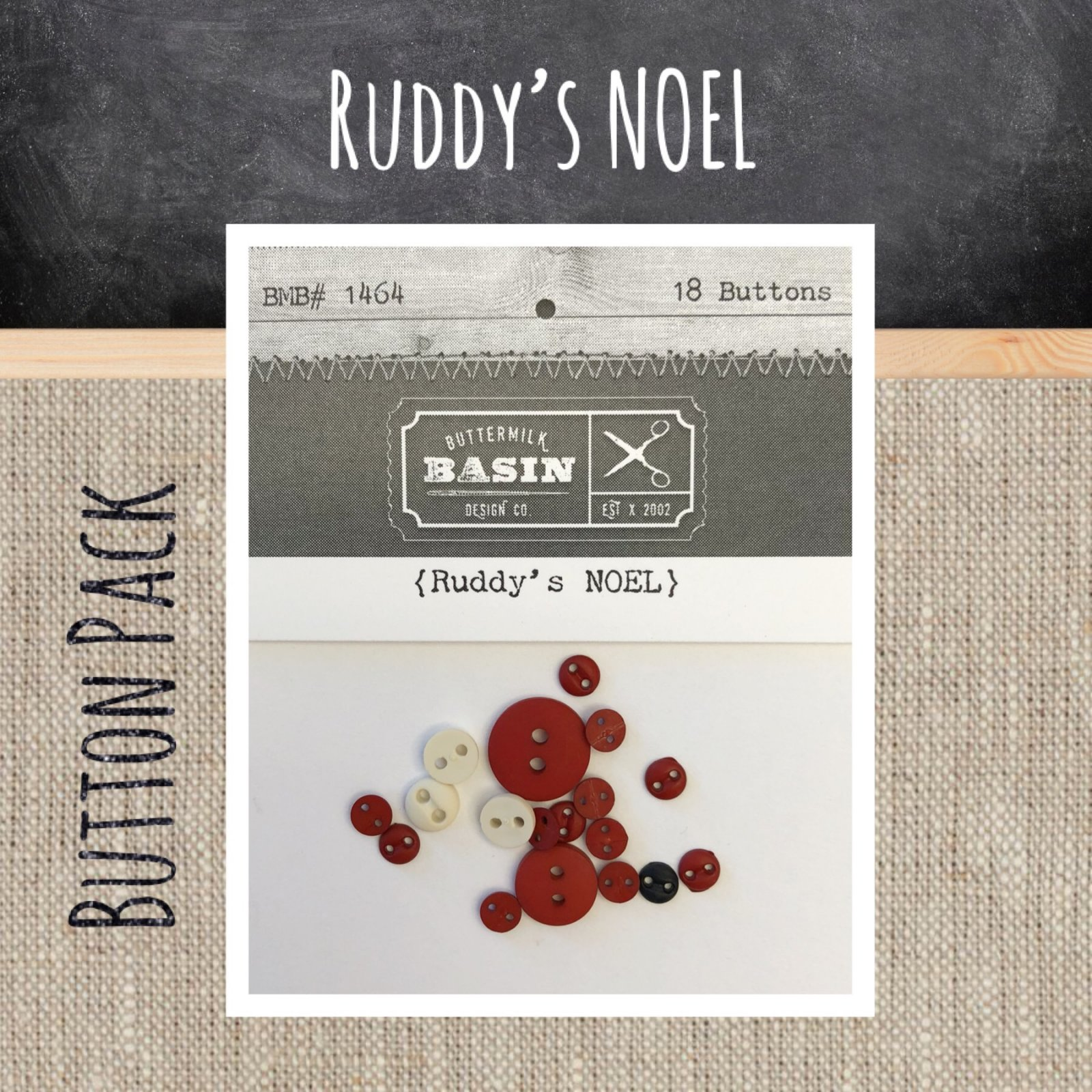 Ruddy's Noel BUTTON Pack