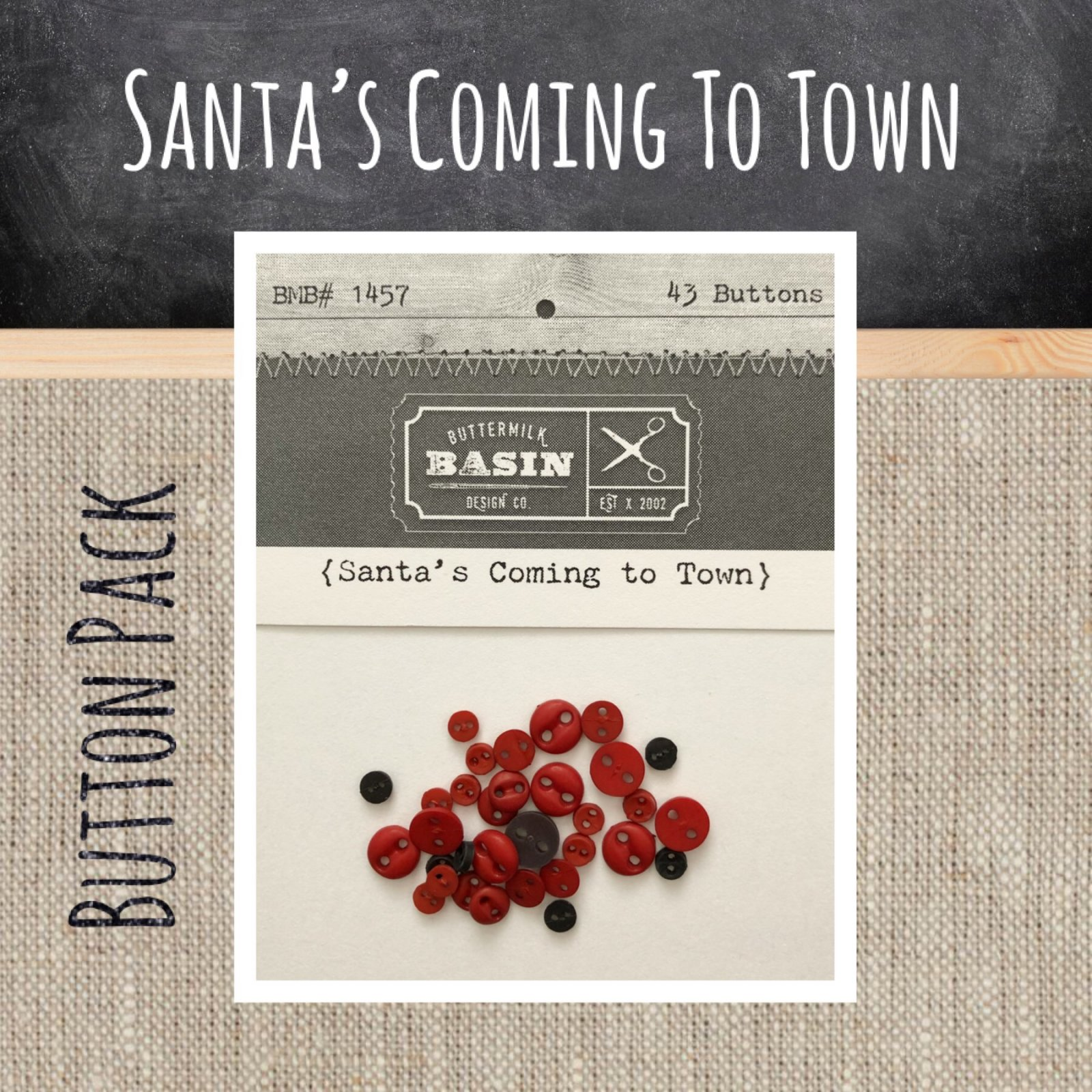 Santa's Coming to Town BUTTON Pack