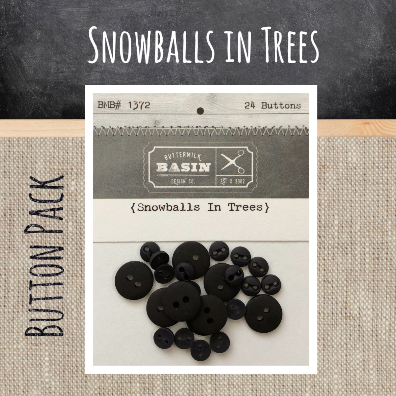 Snowballs in Trees BUTTON Pack