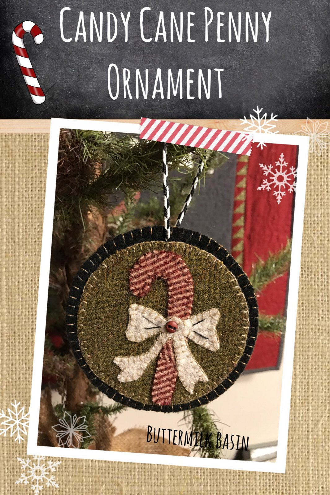 Candy Cane Penny Ornament * KIT