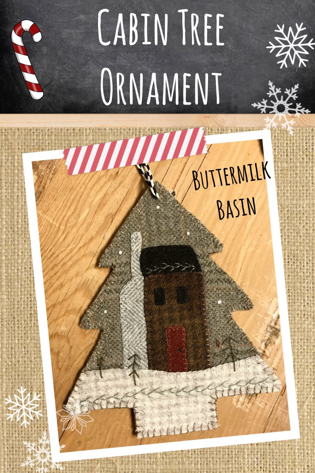 Cabin Tree Ornament * KIT
