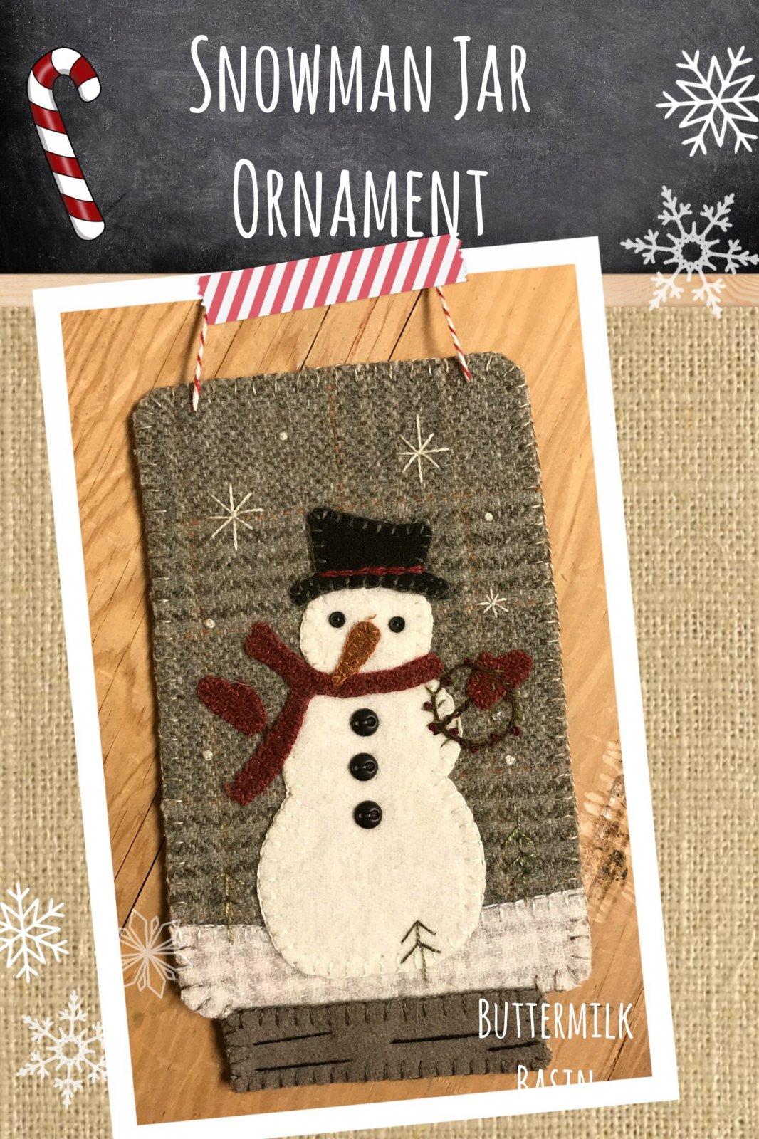 Snowman Jar Ornament * KIT