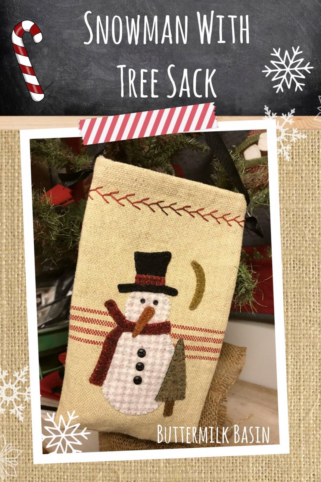 Snowman With Tree Sack * KIT