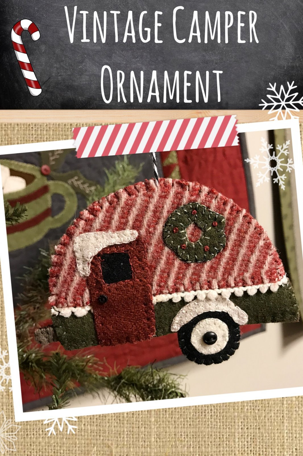 Vintage Camper Ornament * KIT