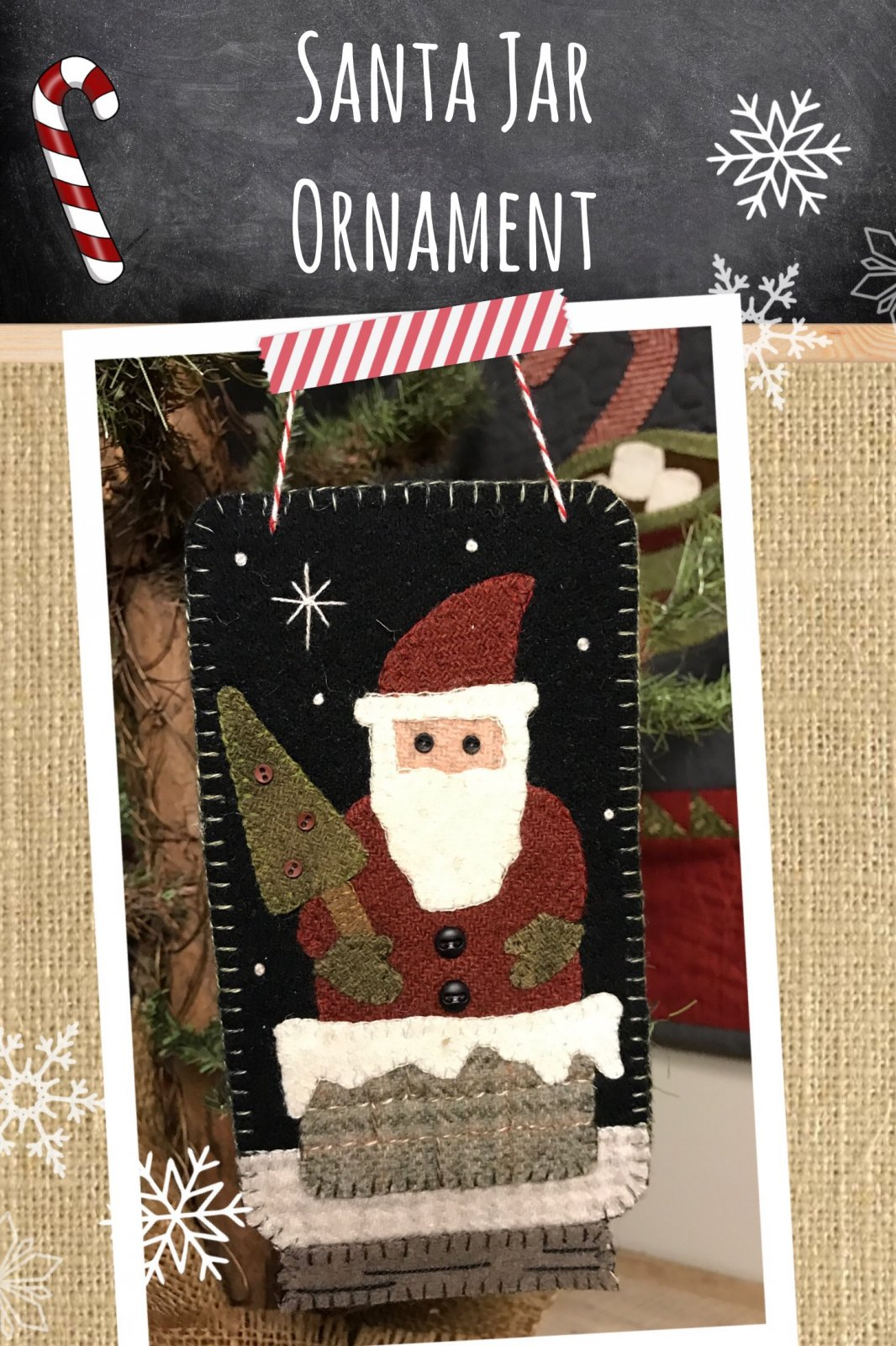 Santa Jar Ornament * KIT