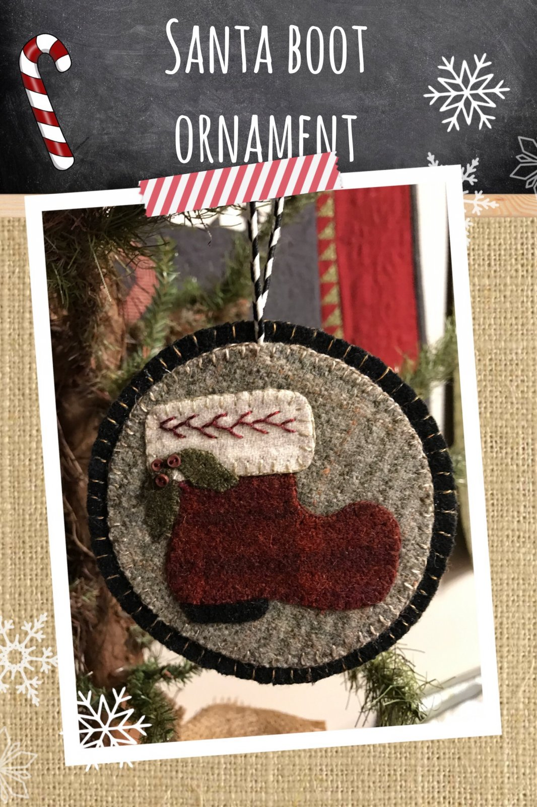 Santa Boot Penny Ornament * KIT