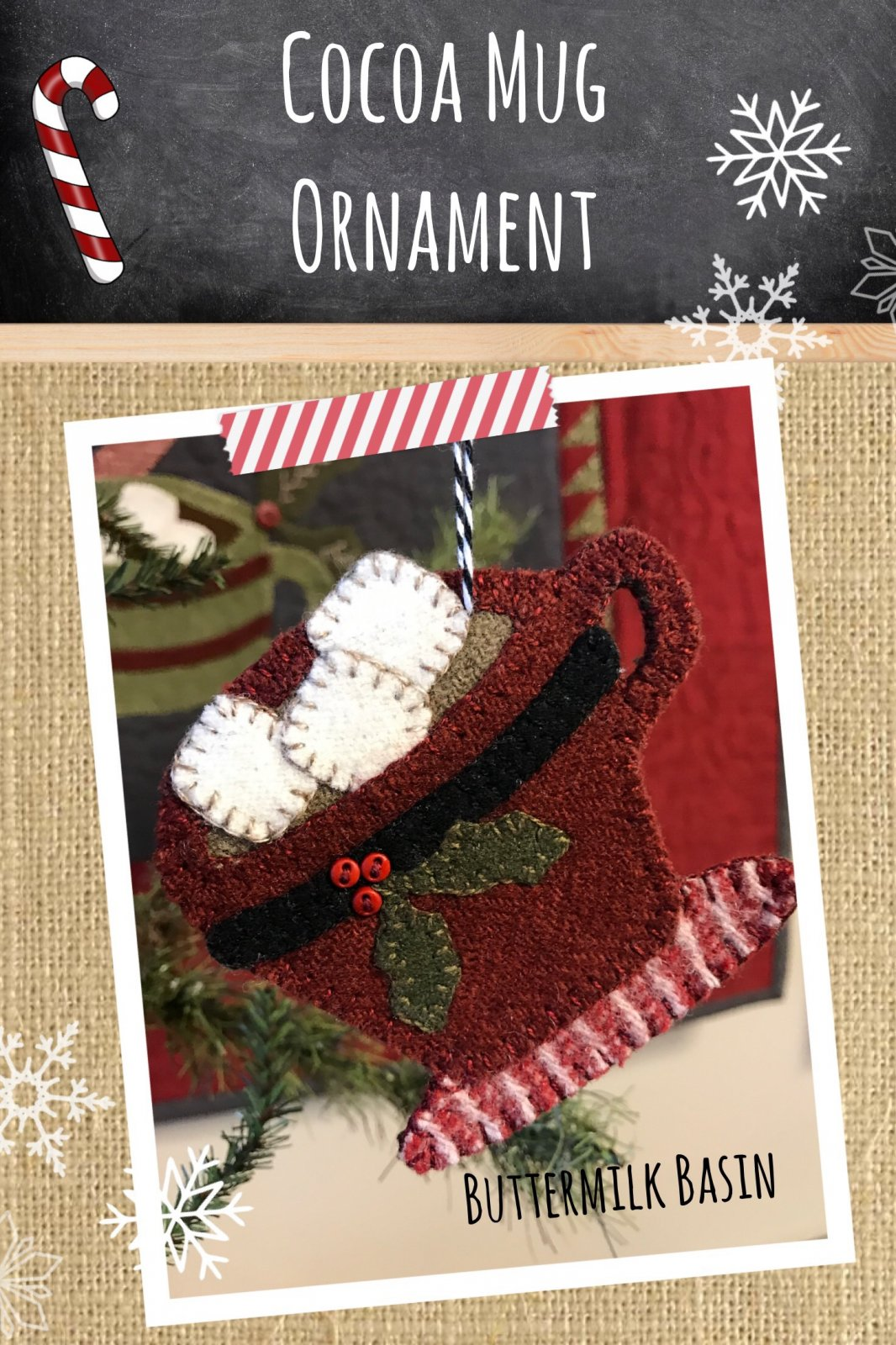 Cocoa Mug Ornament * KIT