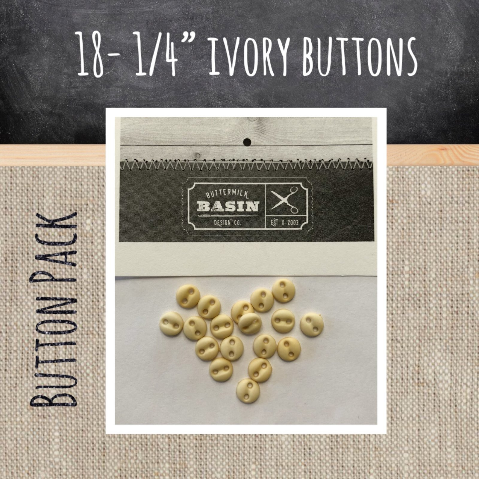 1/4 Ivory Button Pack