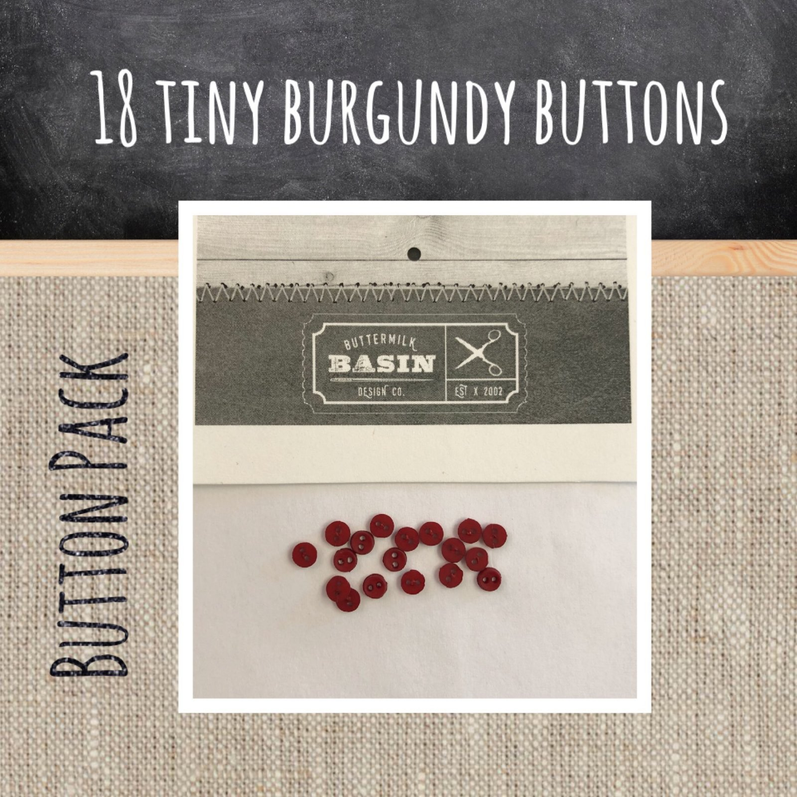 Tiny Burgundy Button Pack