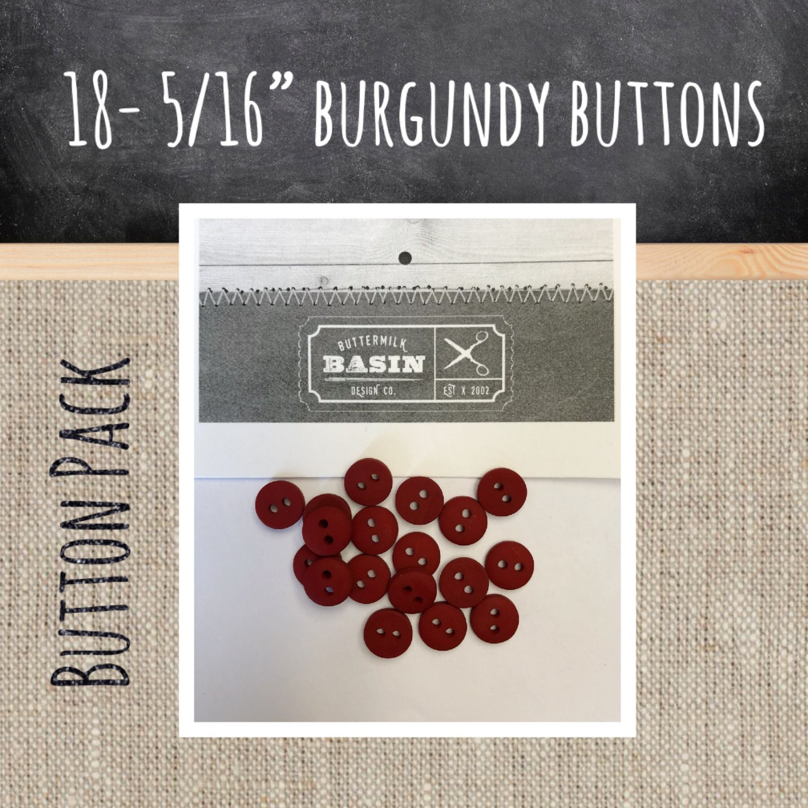 5/16 Burgundy Button Pack