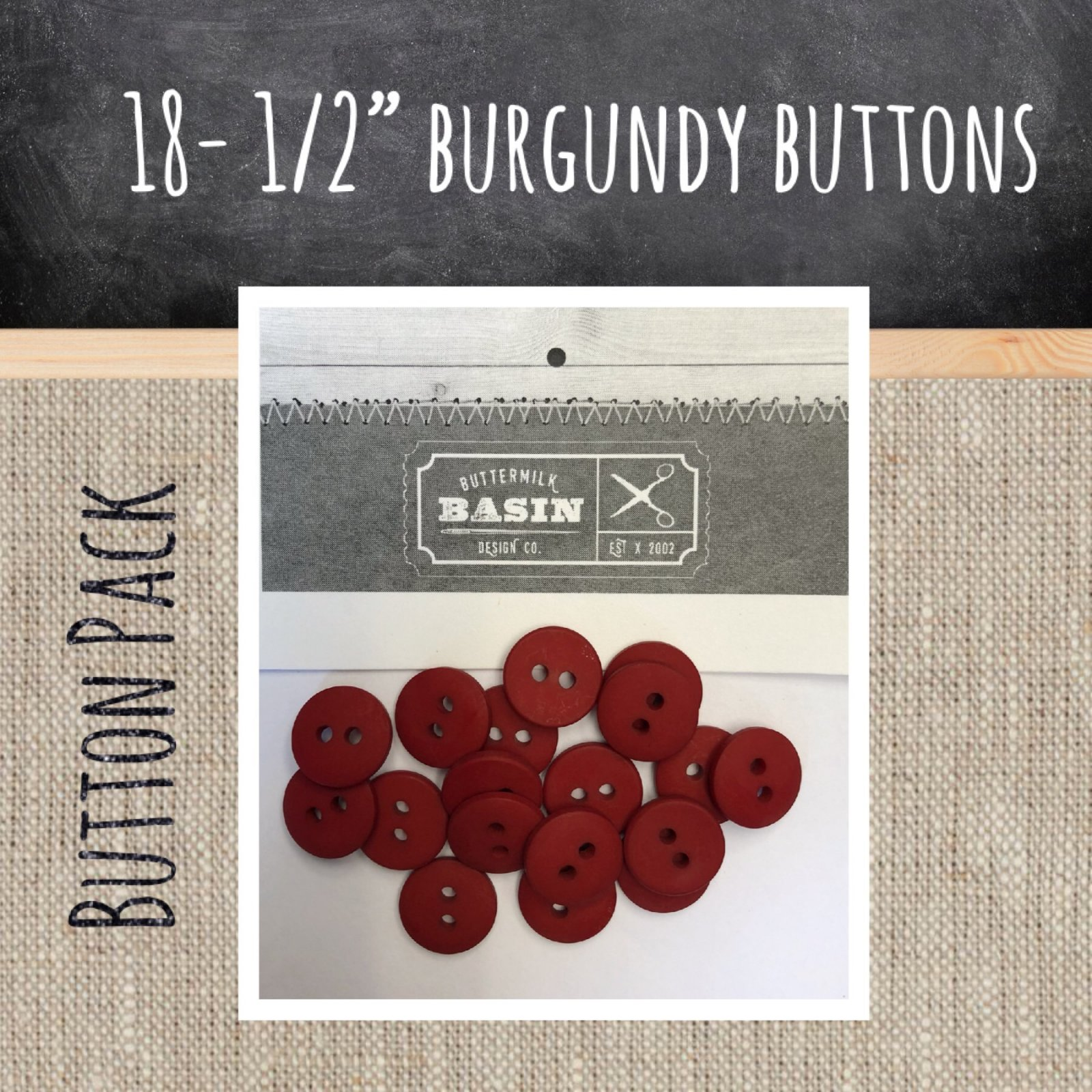 1/2 Burgundy Button Pack