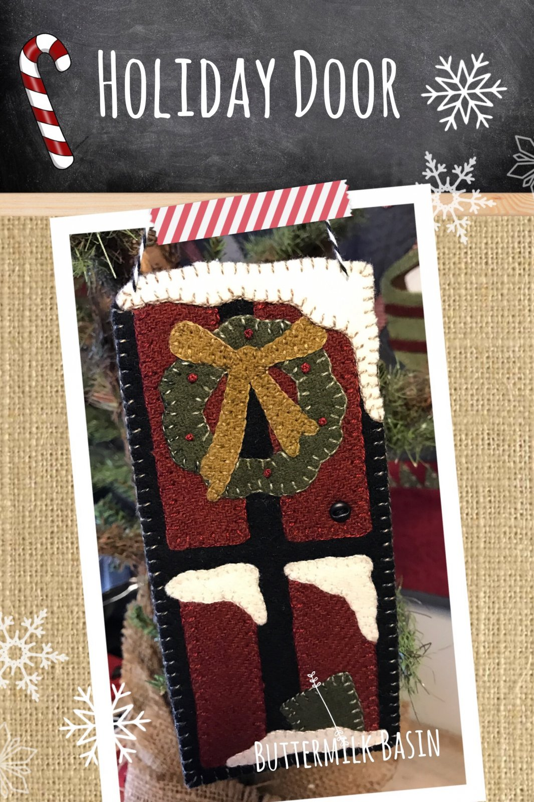 Holiday Door Ornament * KIT