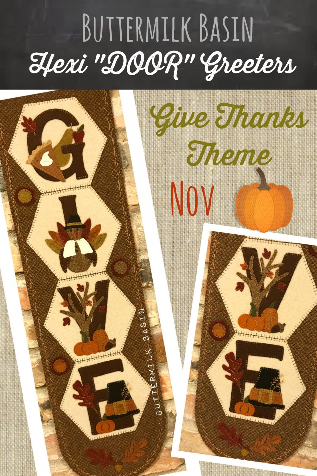 A Year of Hexi WORD Door Greeters * November KIT & Pattern
