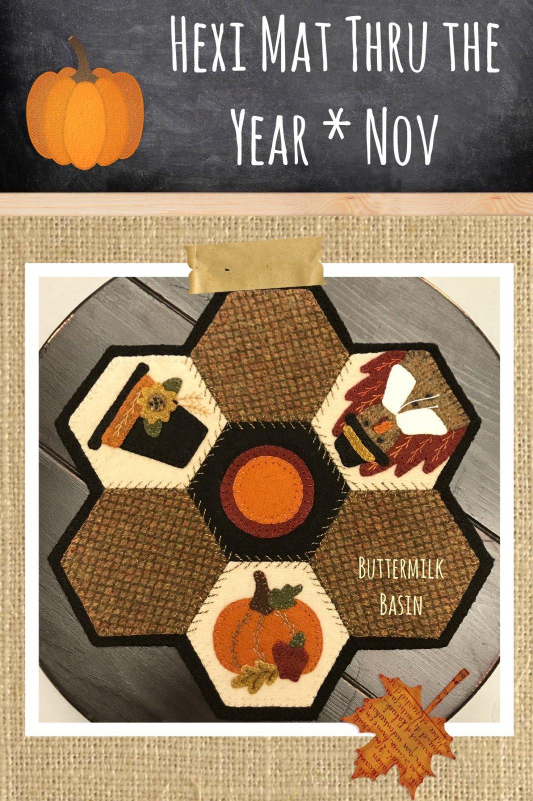 Hexi Mats thru the Year * November KIT & Pattern