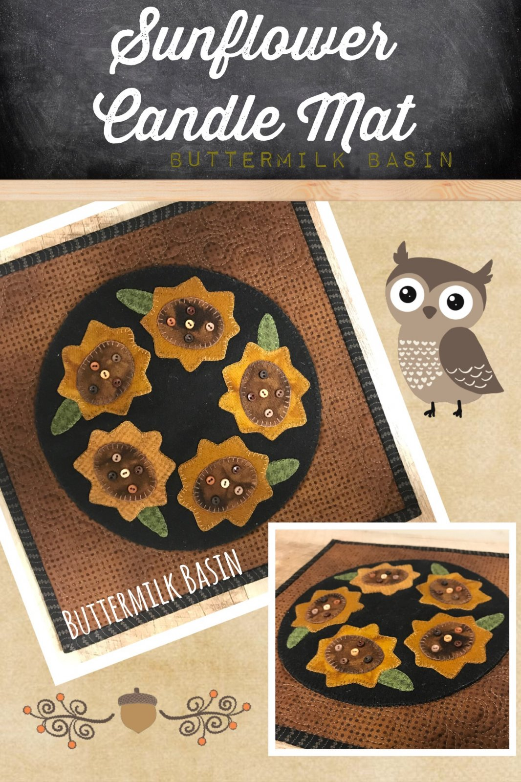 Candle Mat Thru Year August * KIT and Pattern