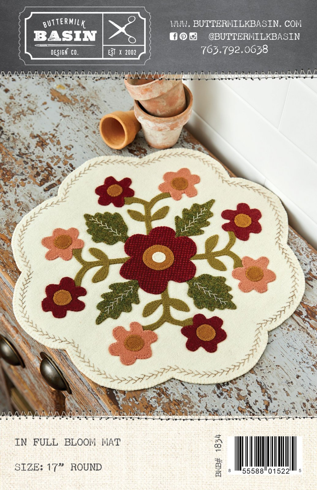 In Full Bloom Mat *Pattern & Kit