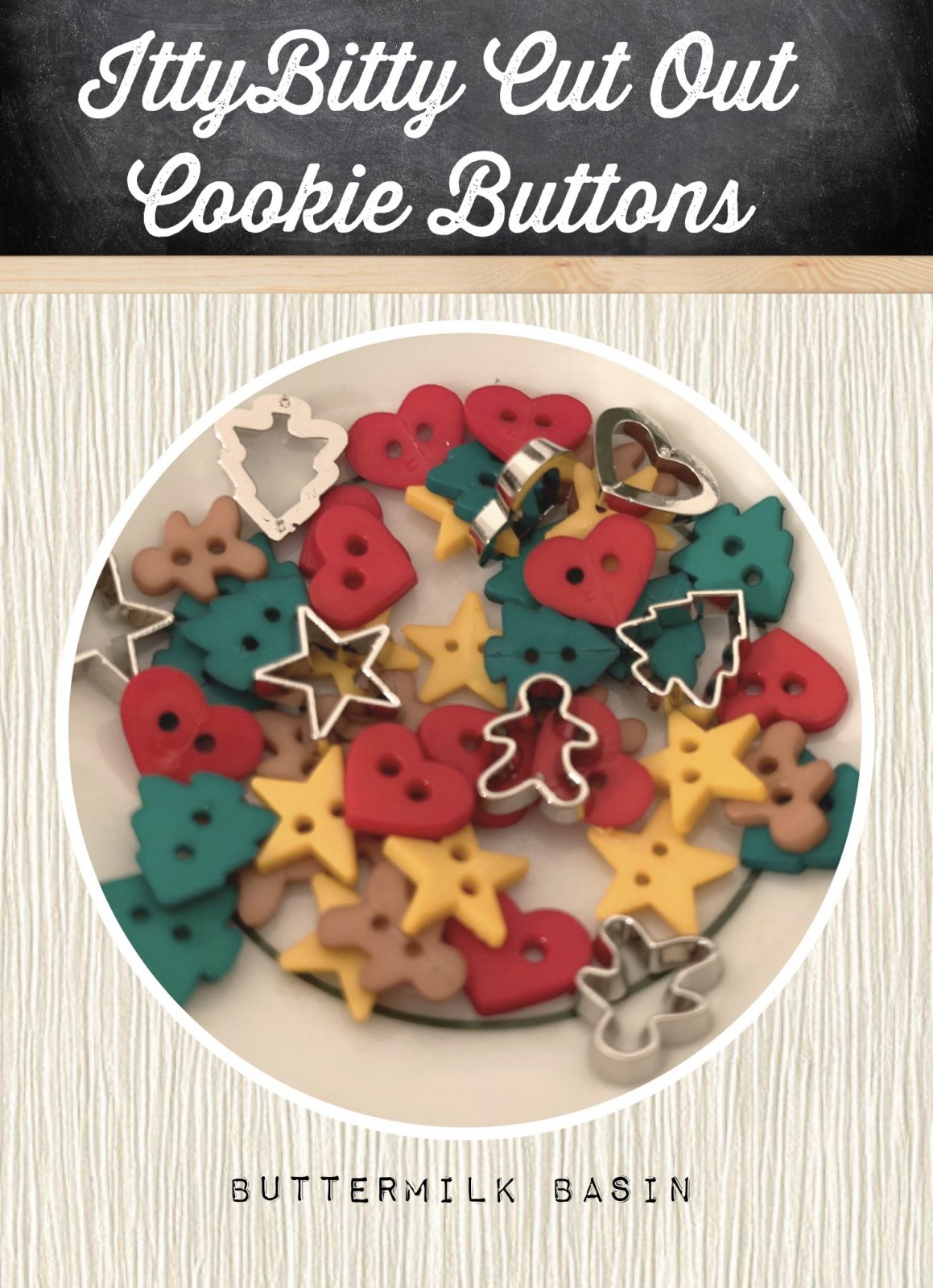 Itty Bitty Cut Out Cookie Buttons