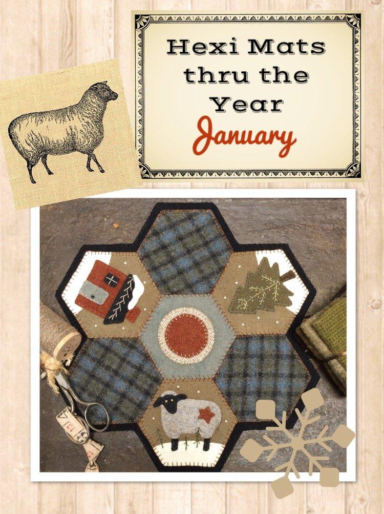 Hexi Mats thru the Year * January KIT & Pattern