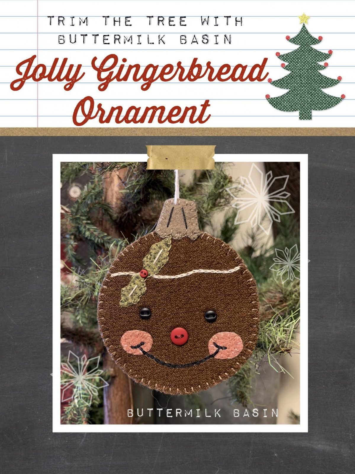 Jolly Gingerbread Ornament Pattern and Kit