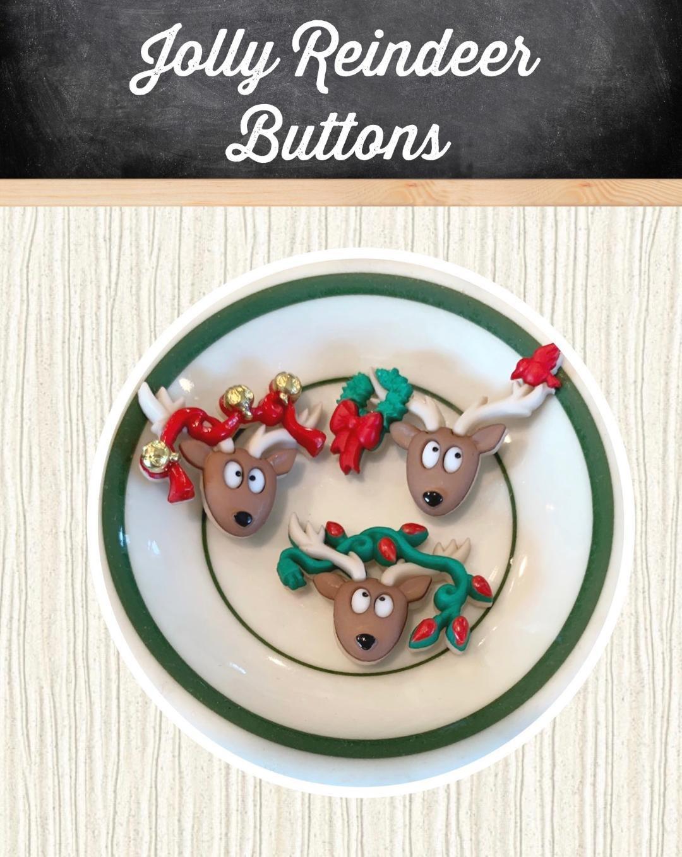 Jolly Reindeer Buttons