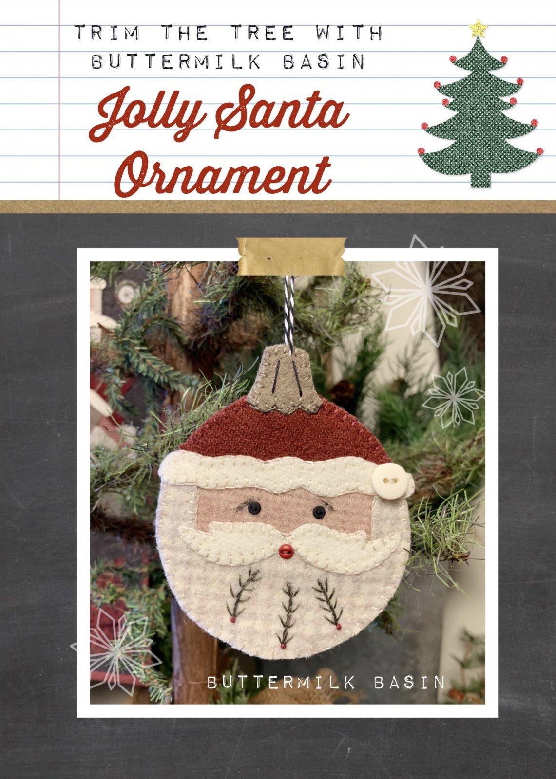 Jolly Santa Ornament Pattern and Kit