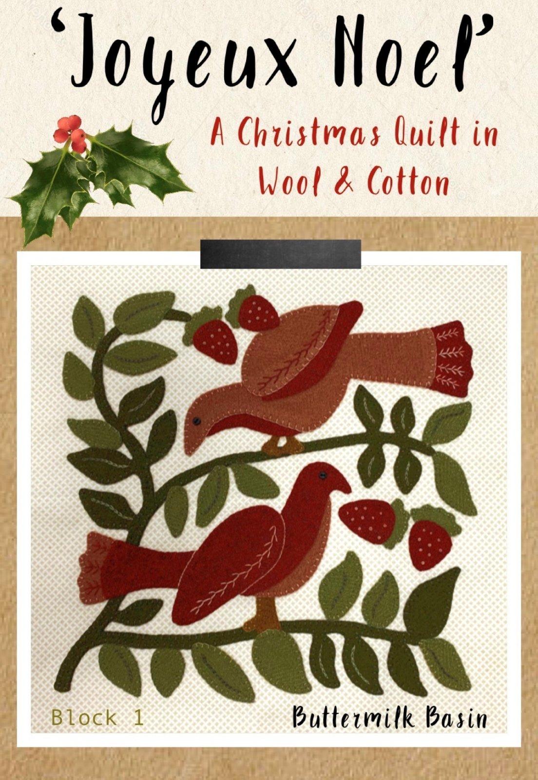 Joyeux Noel Block 1 * Kit & Pattern