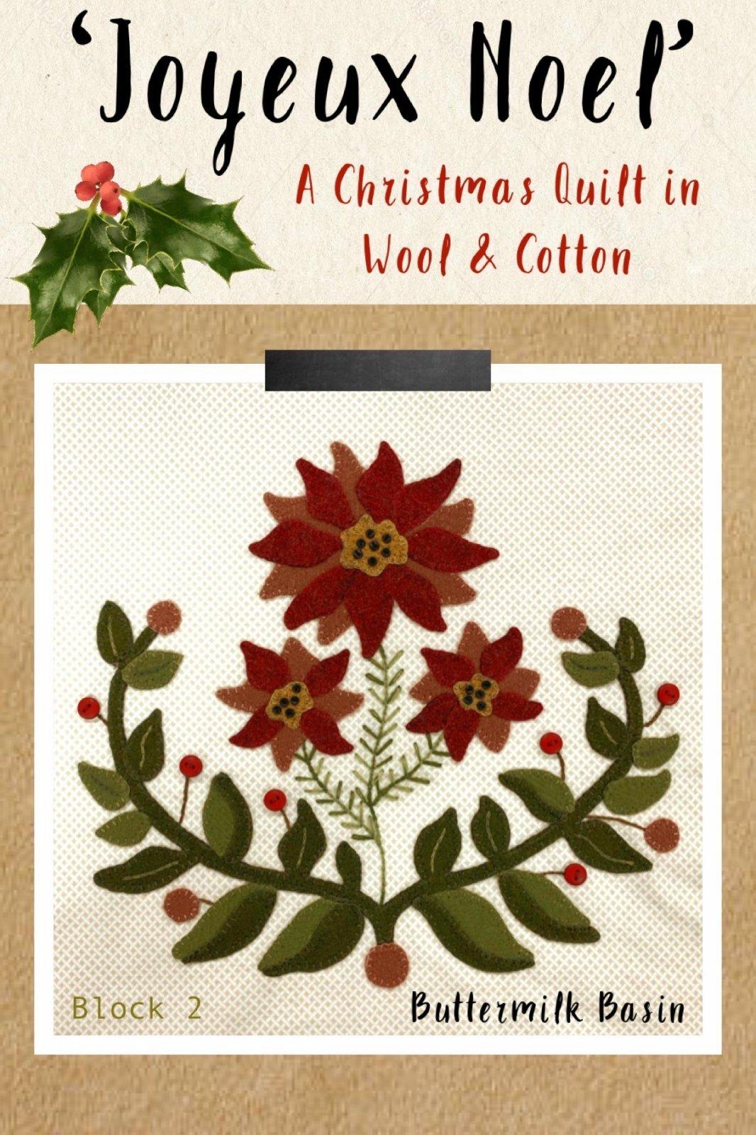 Joyeux Noel Block 2 * Kit & Pattern
