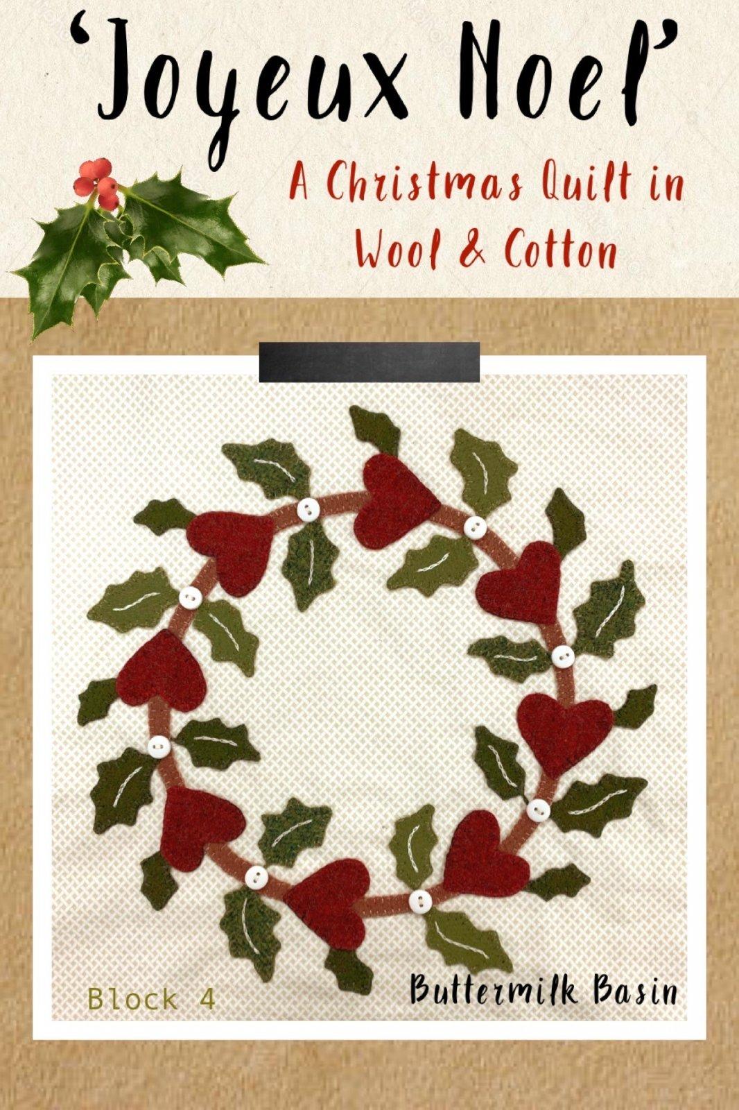 Joyeux Noel Block 4 * Kit & Pattern