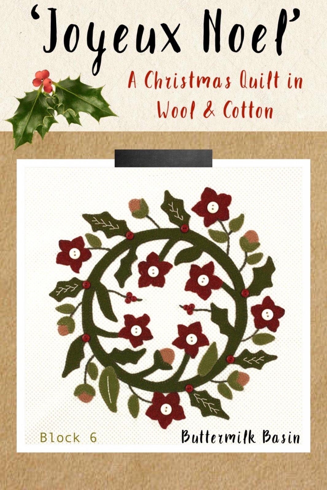 Joyeux Noel Block 6 * Kit & Pattern