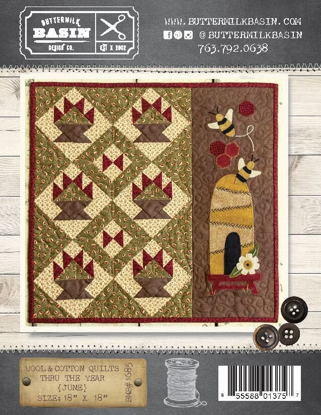 Wool & Cotton Quilts thru the Year * June