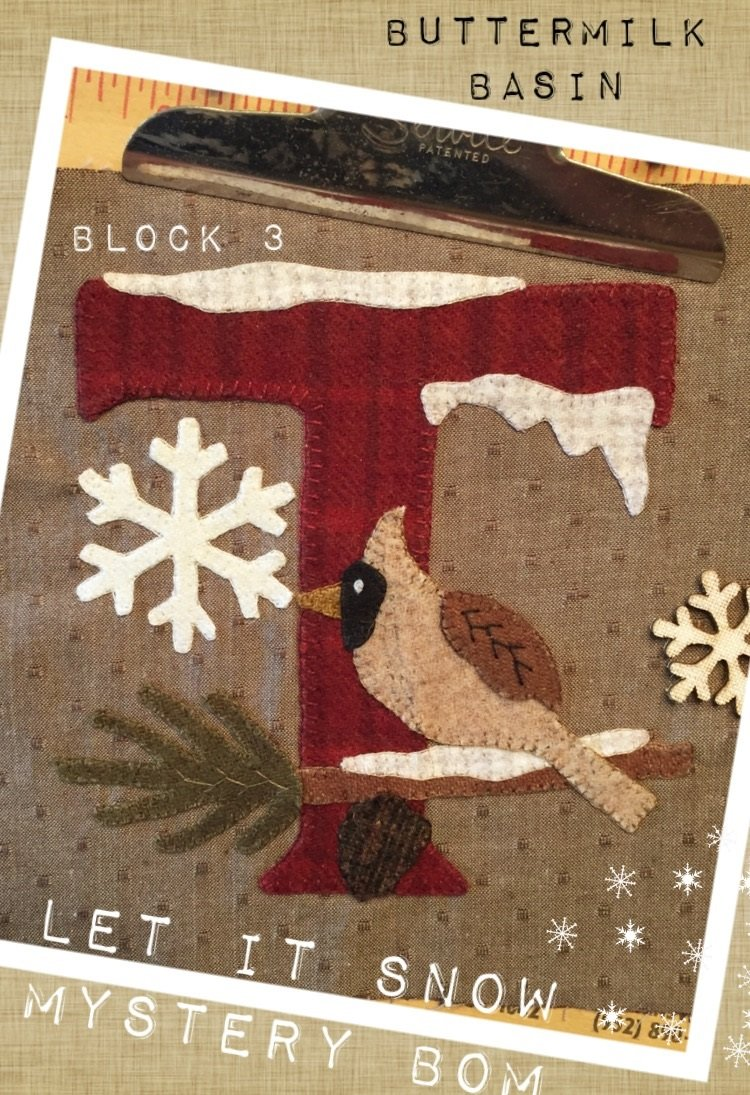 Let it Snow Mystery Block 3(T) * Pattern & Kit