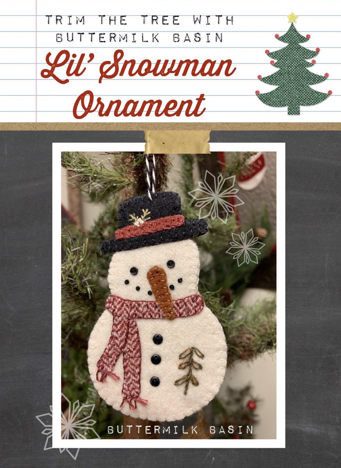 Lil' Snowman Ornament * Pattern & Kit