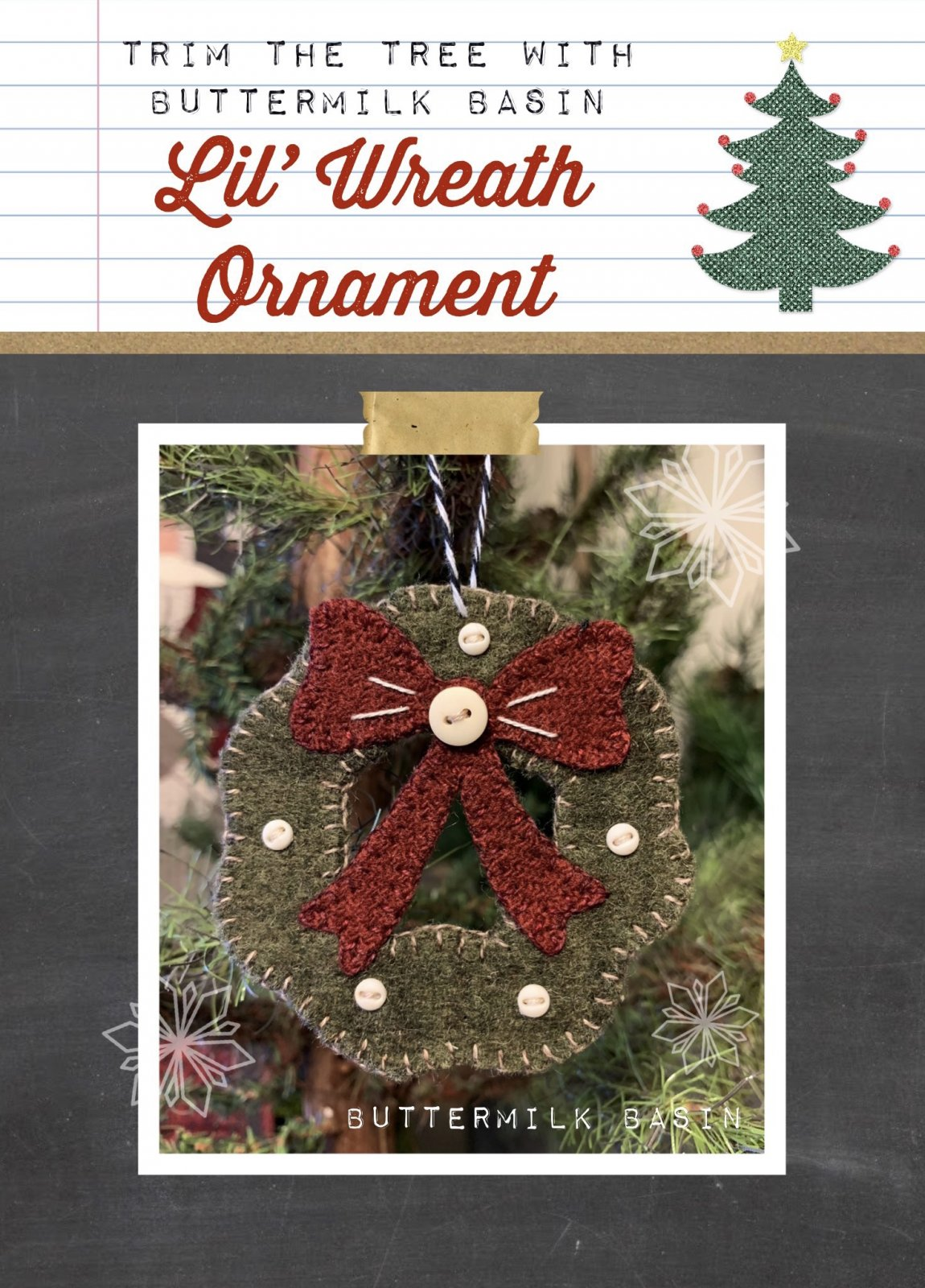 Lil' Wreath Ornament * Pattern & KIT
