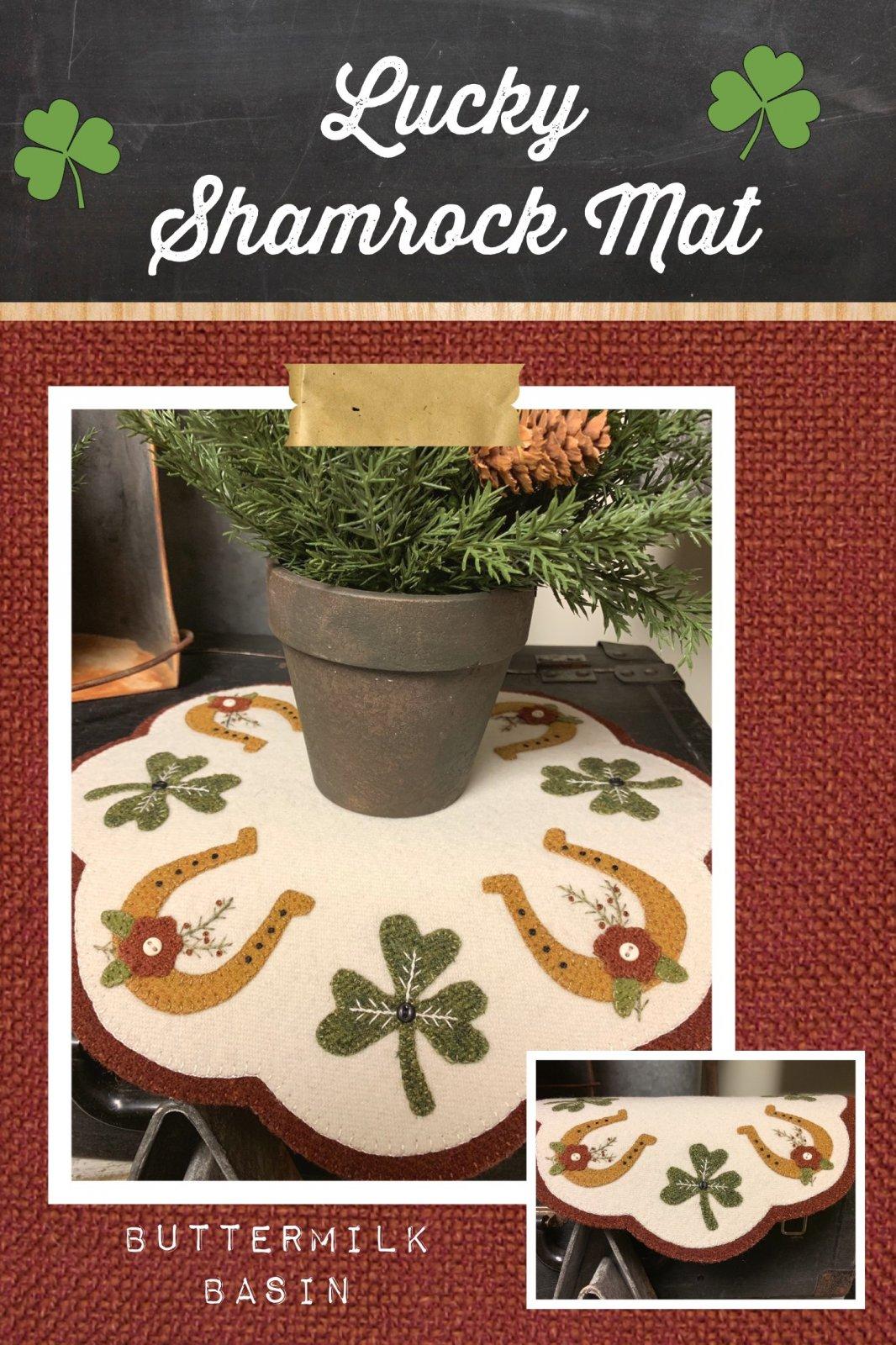 Lucky Shamrock Mat * Pattern & Kit