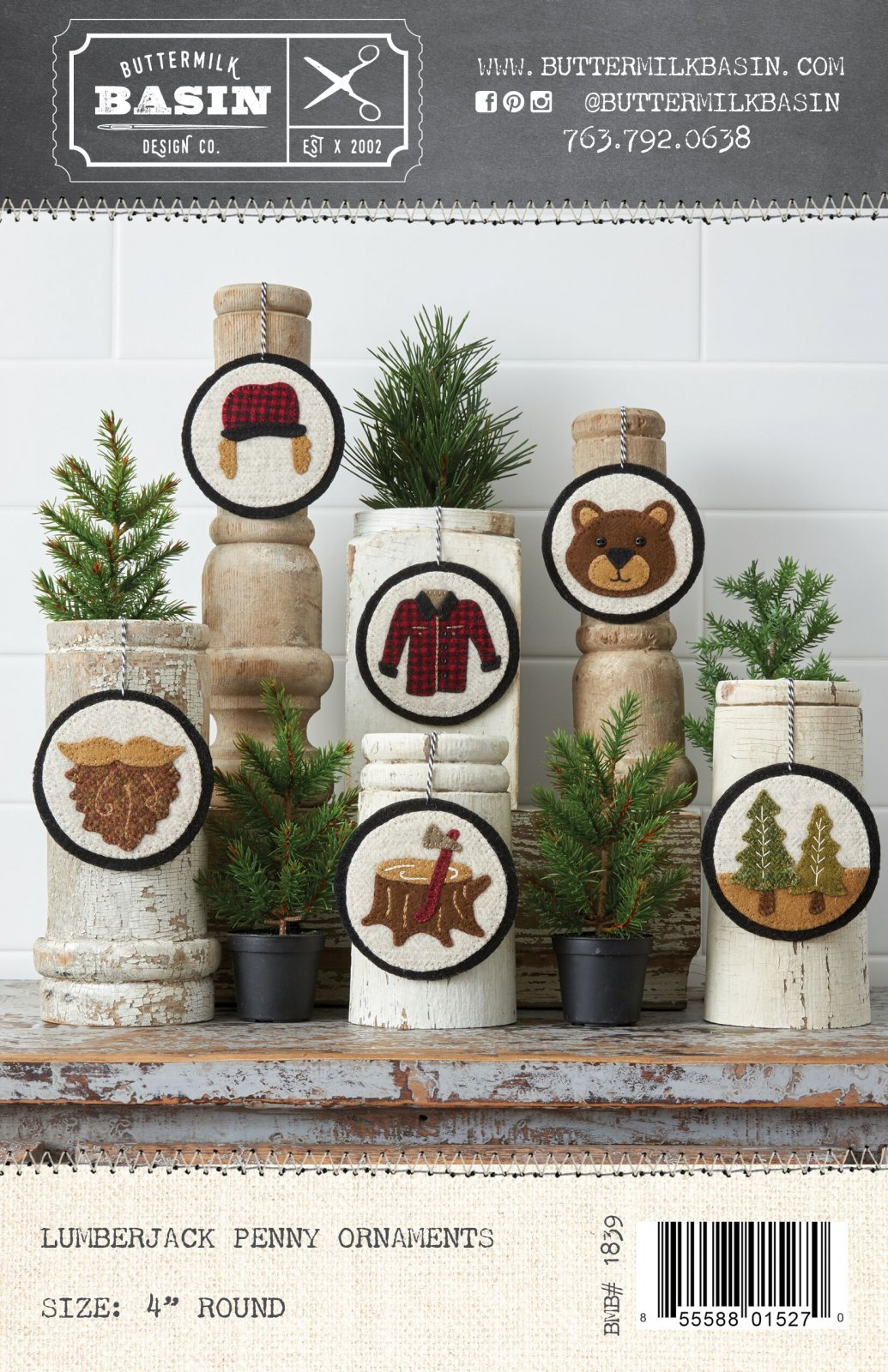 Lumberjack Ornaments * Kit & Pattern