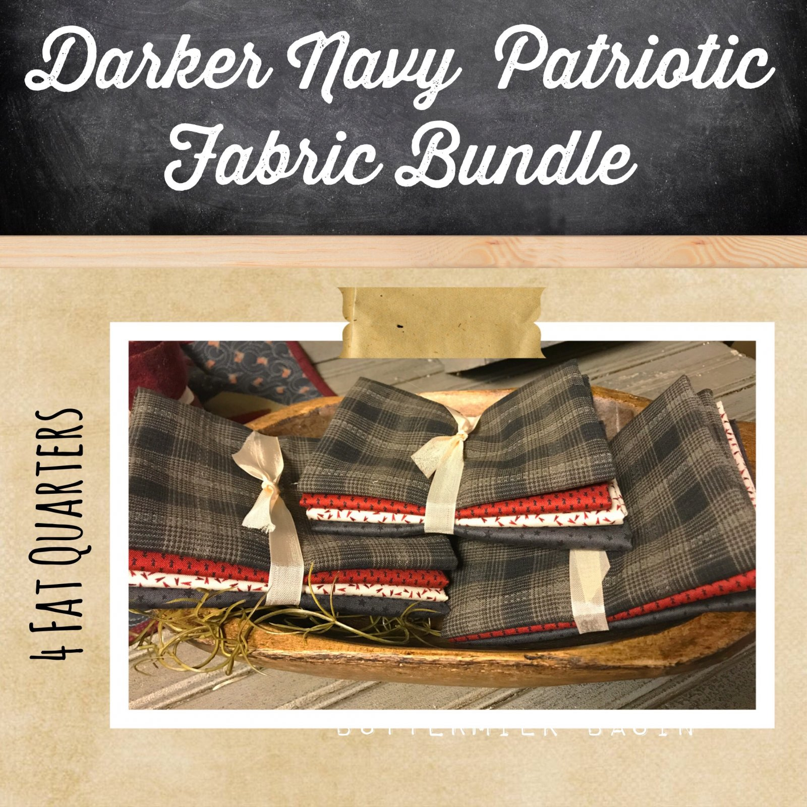 Darker Navy Patriotic Fabric Bundle