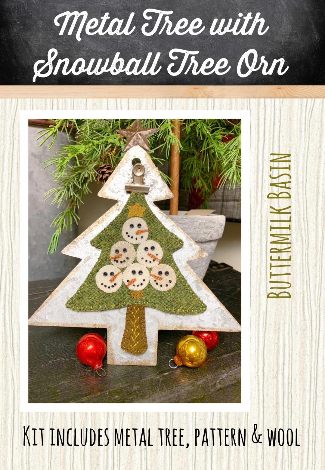Metal Tree With Snowballs Tree * Metal Tree Stand, KIT & Pattern Included