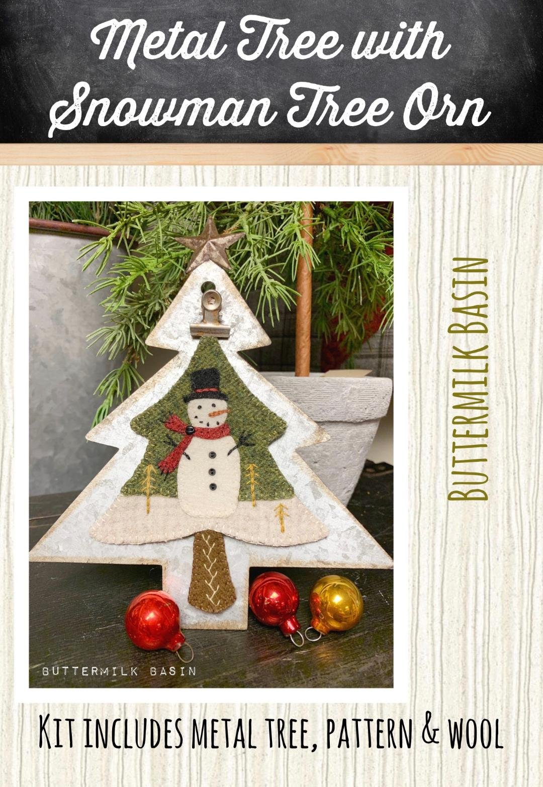 Metal Tree With Snowman Tree * Metal Tree Stand, KIT & Pattern Included