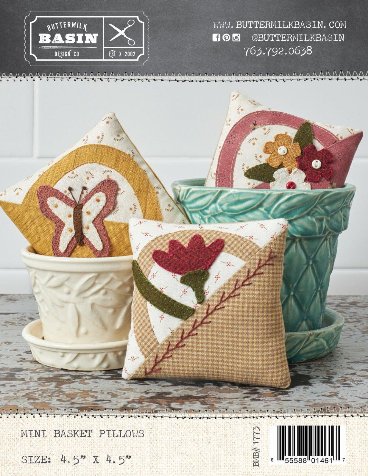 Mini Basket Pillows * Pattern